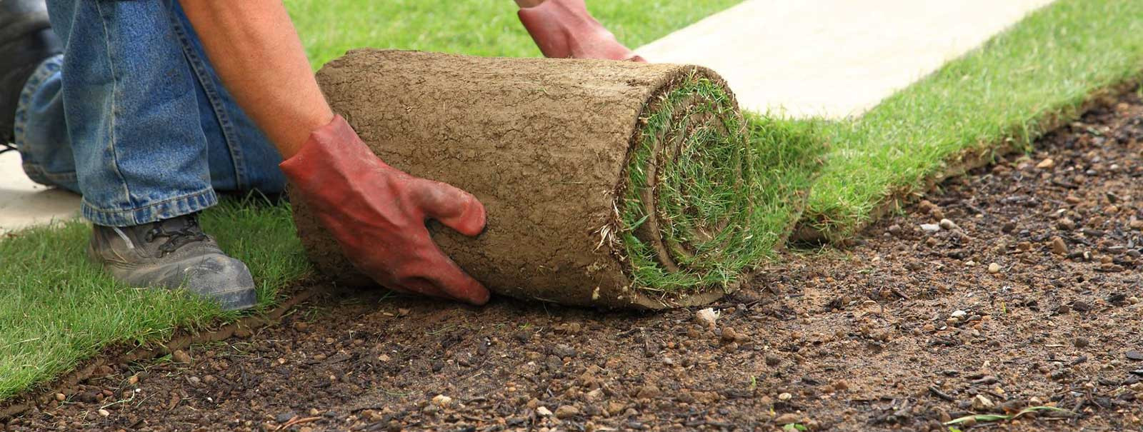 Laying Sod- Landscape Design, Lawn Maintenance, Mulching, Pressure Washing- Hagerstown and Frederick MD